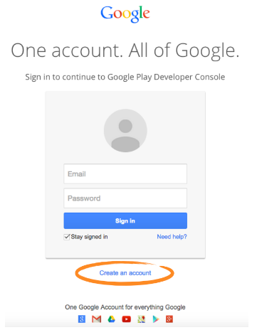 sign in page to google account
