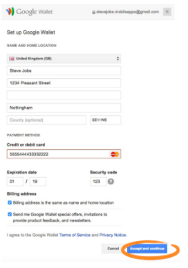 google wallet pay screen